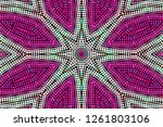 abstract geometric background... | Shutterstock . vector #1261803106