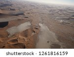aerial views over the namib... | Shutterstock . vector #1261816159