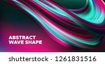 wave background  abstract... | Shutterstock .eps vector #1261831516