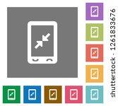 mobile pinch close gesture flat ... | Shutterstock .eps vector #1261833676