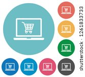 webshop flat white icons on...   Shutterstock .eps vector #1261833733