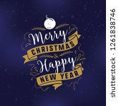 merry christmas. typography.... | Shutterstock .eps vector #1261838746