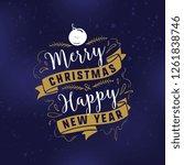 merry christmas. typography.... | Shutterstock .eps vector #1261838746