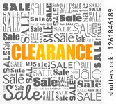 clearance sale word cloud... | Shutterstock .eps vector #1261846189