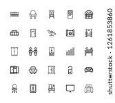 editable 25 living icons for... | Shutterstock .eps vector #1261853860