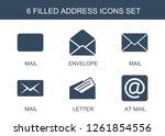 address icons. trendy 6 address ...   Shutterstock .eps vector #1261854556