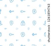 key icons pattern seamless... | Shutterstock .eps vector #1261854763
