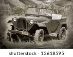 Soviet Military Jeep. Ww2 Time