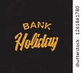 bank holiday background. vector ... | Shutterstock .eps vector #1261861780
