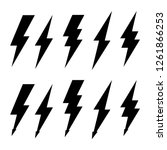 thunderbolt and high voltage... | Shutterstock .eps vector #1261866253
