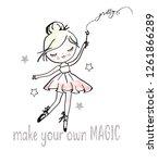 cute girl ballerina   Shutterstock .eps vector #1261866289