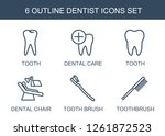 dentist icons. trendy 6 dentist ... | Shutterstock .eps vector #1261872523