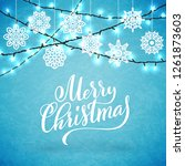 merry christmas party poster... | Shutterstock . vector #1261873603