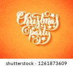 merry christmas party poster... | Shutterstock . vector #1261873609