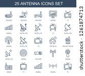 25 antenna icons. trendy... | Shutterstock .eps vector #1261874713