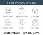 mood icons. trendy 6 mood icons.... | Shutterstock .eps vector #1261877896