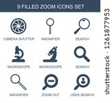 zoom icons. trendy 9 zoom icons.... | Shutterstock .eps vector #1261877953