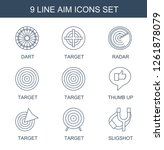 aim icons. trendy 9 aim icons.... | Shutterstock .eps vector #1261878079