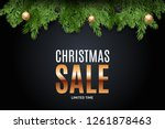 merry christmas and new year... | Shutterstock . vector #1261878463