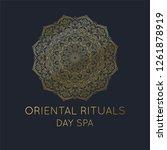oriental logo  gold mandala... | Shutterstock .eps vector #1261878919