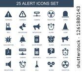 25 alert icons. trendy alert... | Shutterstock .eps vector #1261880143