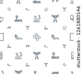 gym icons pattern seamless... | Shutterstock .eps vector #1261880146