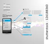 touchscreen smart phone with... | Shutterstock .eps vector #126188360