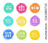 sale 50  best hot choice... | Shutterstock . vector #1261883710