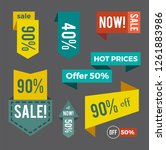 sale now hot price and offer... | Shutterstock . vector #1261883986