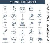 25 handle icons. trendy handle... | Shutterstock .eps vector #1261885426