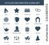 16 decoration icons. trendy... | Shutterstock .eps vector #1261885453