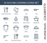 cooking icons. trendy 16... | Shutterstock .eps vector #1261885570