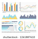 infographics and graphic charts ... | Shutterstock .eps vector #1261887610