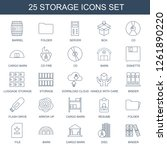 storage icons. trendy 25... | Shutterstock .eps vector #1261890220