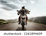 the biker in action or movement ... | Shutterstock . vector #1261894609
