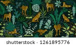 tropical seamless pattern with...   Shutterstock .eps vector #1261895776