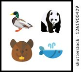 4 wildlife icon. vector... | Shutterstock .eps vector #1261900429