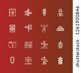 editable 16 guidance icons for... | Shutterstock .eps vector #1261900846