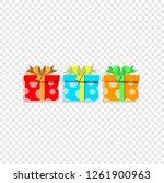 vector illustration of cute... | Shutterstock .eps vector #1261900963