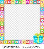 vector cute vibrant border... | Shutterstock .eps vector #1261900993