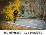 professional road bicycle racer ... | Shutterstock . vector #1261903963