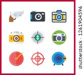 9 aiming icon. vector... | Shutterstock .eps vector #1261904596