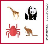4 wildlife icon. vector... | Shutterstock .eps vector #1261904620
