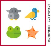 4 wildlife icon. vector... | Shutterstock .eps vector #1261904629