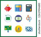 9 income icon. vector... | Shutterstock .eps vector #1261904680