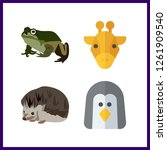4 wildlife icon. vector... | Shutterstock .eps vector #1261909540