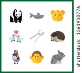 9 wildlife icon. vector... | Shutterstock .eps vector #1261910776