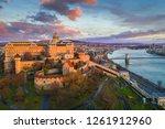 budapest  hungary   golden... | Shutterstock . vector #1261912960