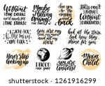 hand lettering with... | Shutterstock .eps vector #1261916299
