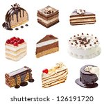 collection of  various cakes on ... | Shutterstock . vector #126191720